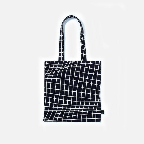 Folded grid paper BLACK - Tote bag