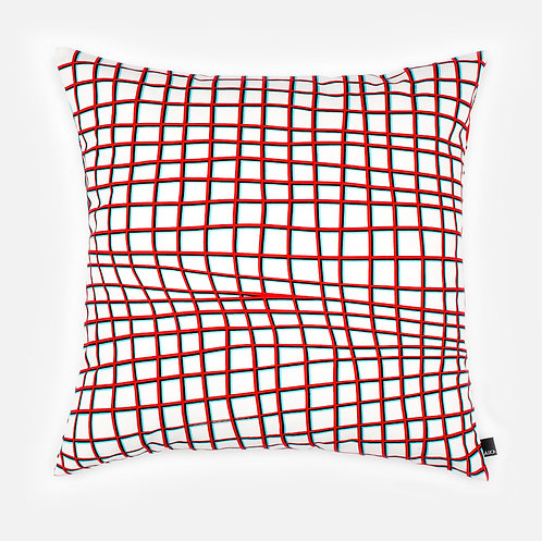 Anaglyphic Grid paper - Cushion cover
