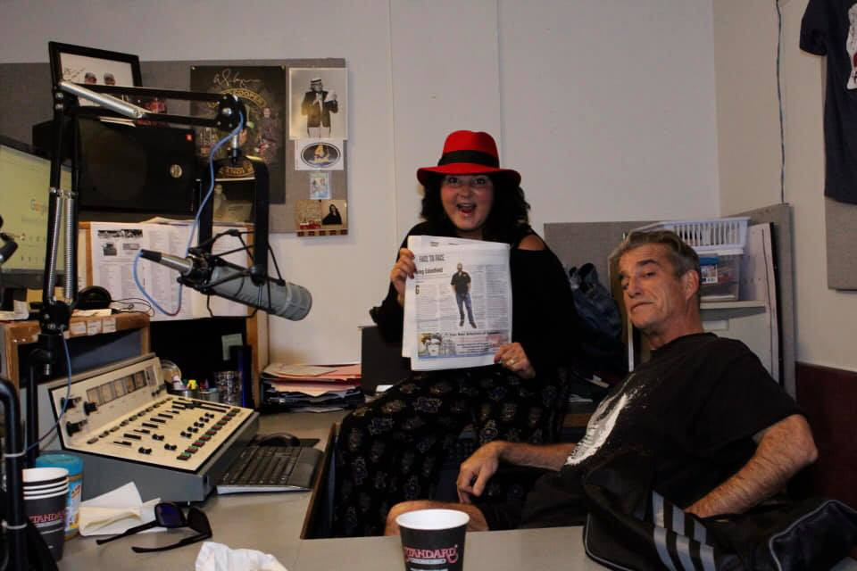 Kiki with Coach KC at Hippo Radio