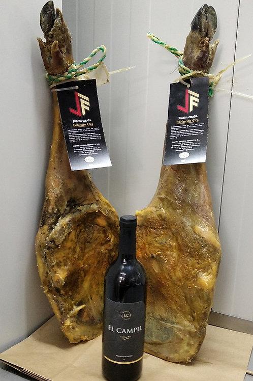 Lote2 paletas Serie Oro + Botella de Vino