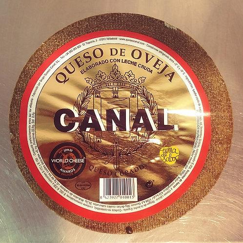 QUESO CURADO CANAL (leche cruda de oveja 100%)