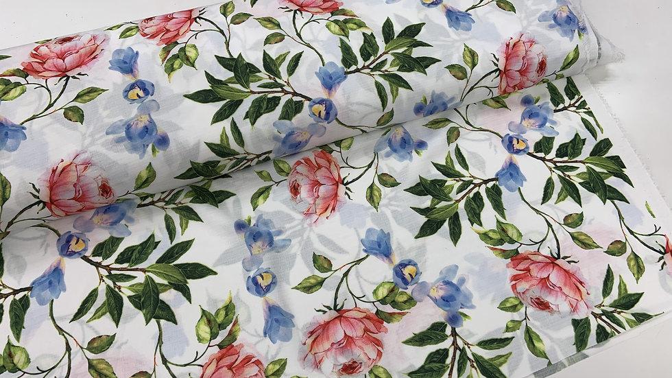 Linen Look Print