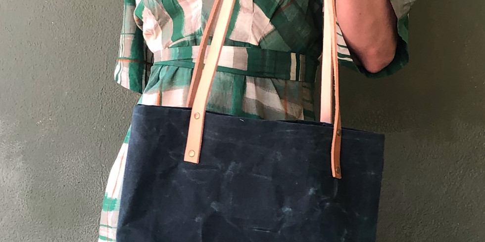 Make a canvas and leather tote in 2 classes