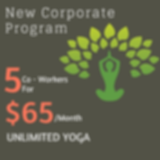 Corporate Program for Unlimited Yoga