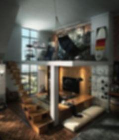 Mezanino em apartamento