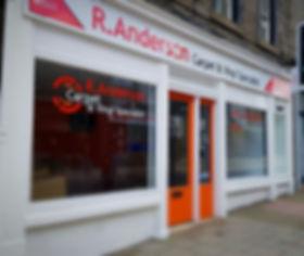 R. Anderson's shop in Forfar