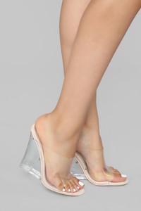 Fashion Nova glass edge heel