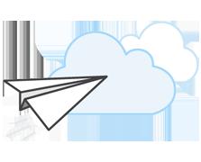 AWS Migration paper plane