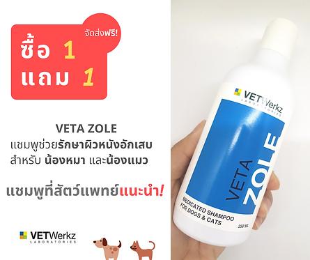 แชมพูยาสำหรับโรคผิวหนังอักเสบของสุนัข &แมว (VETA ZOLE)