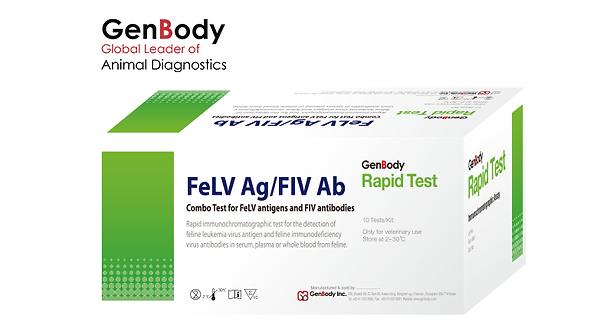 Test Kit FeLV Ag / FIV Ab 'GenBody'