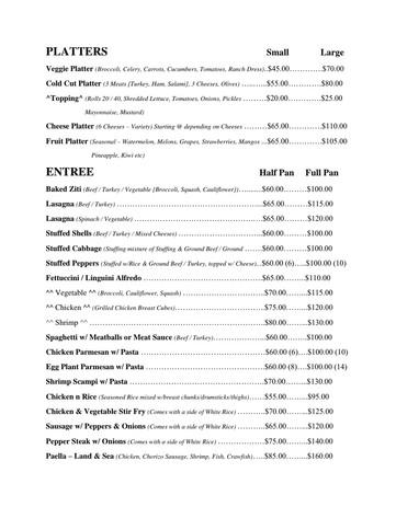Catered Pan Menu Page 4