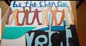 """""""Be the Change""""  Art by Jane Brodsky"""