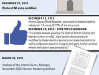 2020 Election was fair. But disinformation continues.