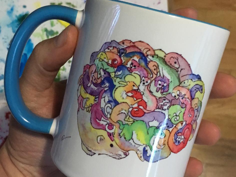 Azure Blue Mug - Brainweasels