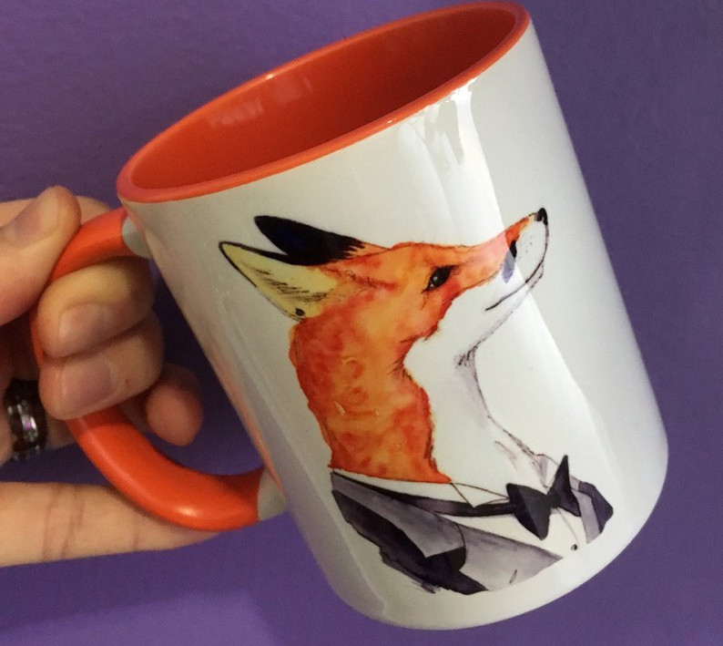 Orange Mug - Foxy Fox