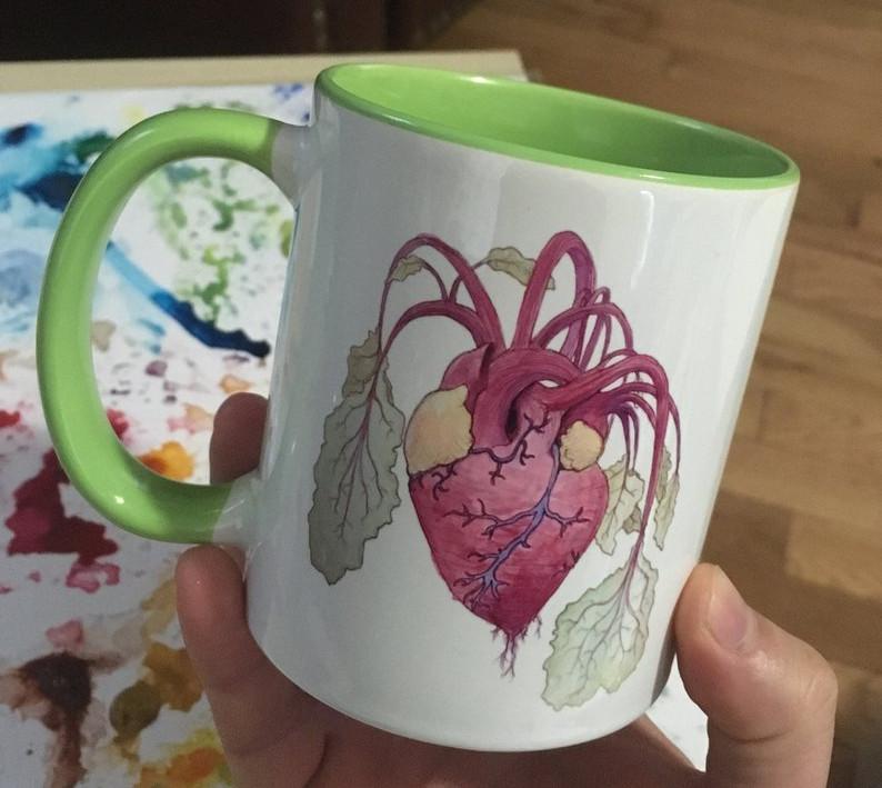Lime Green Mug - Heartbeet