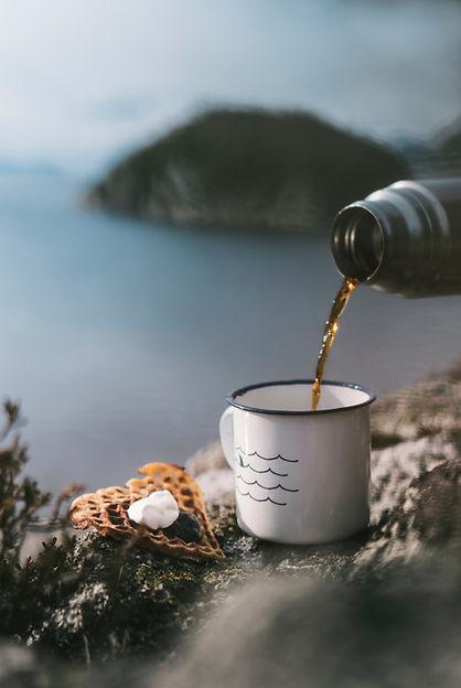 calm relaxing breakfast tea