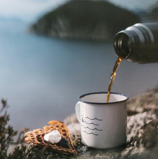 Kaffe på toppen! Oslagbart.