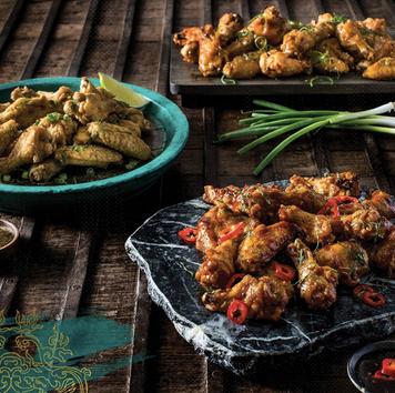 Food styling, Pei Wei, chicken wings
