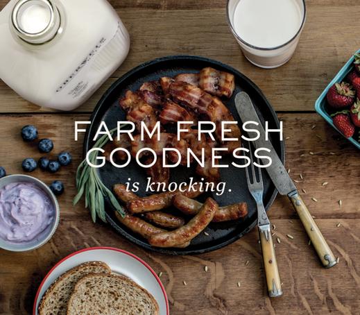 food styling, oberweis, breakfast, bacon, sausage, dairy