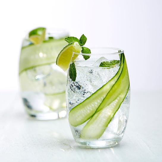 Refreshing cucumber cocktail