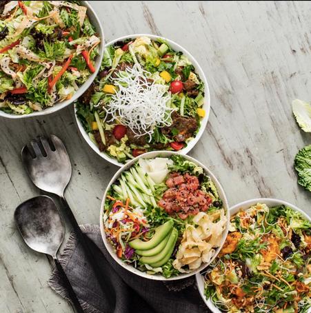 Food styling, Pei Wei, salad, chicken, tuna
