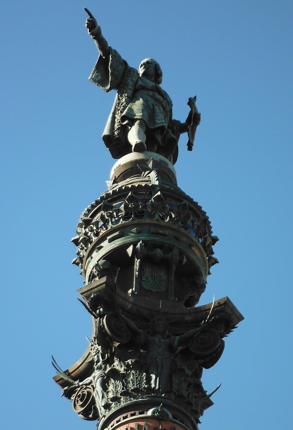 Christopher Columbus statue at Barcelona