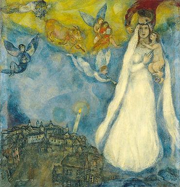 Chagall ::: La madone du village ::: Thyssen-Bornemisza