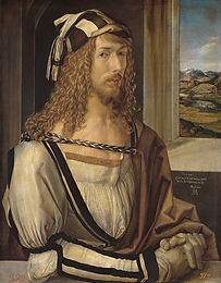 Autoportrait aux gants ::: Albrecht Dürer ::: Prado