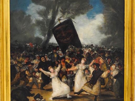 Francisco de Goya ::: L'enterrement de la sardine :::Real Academia de Bellas Artes de San Ferna