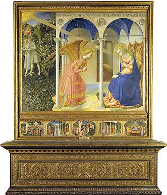 Fra Angelico ::: L'Annonciation ::: Museo Nacional del Prado