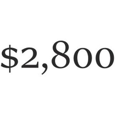 $2,800 Donation