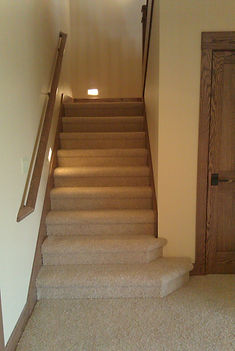 Carpet on stairs in basement