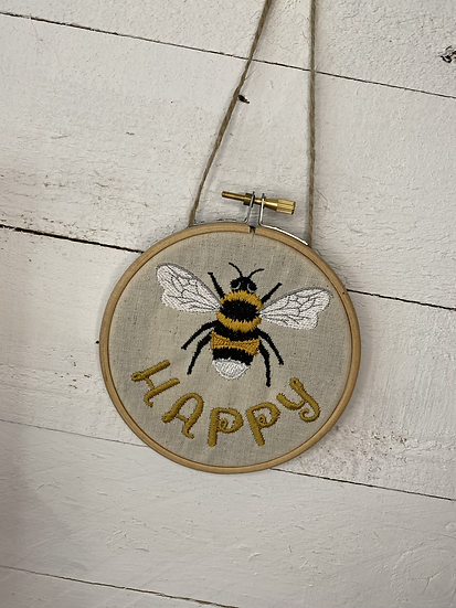 bee hanging decoration - be happy