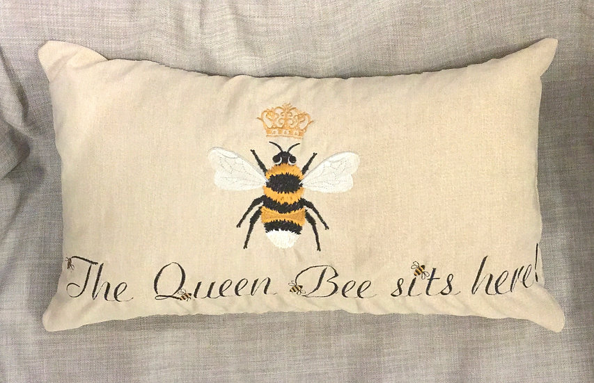 The queen bee sits here! cushion