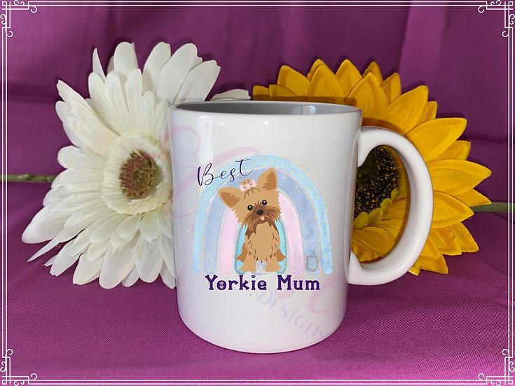 Dog Mum mug - yorkie mum