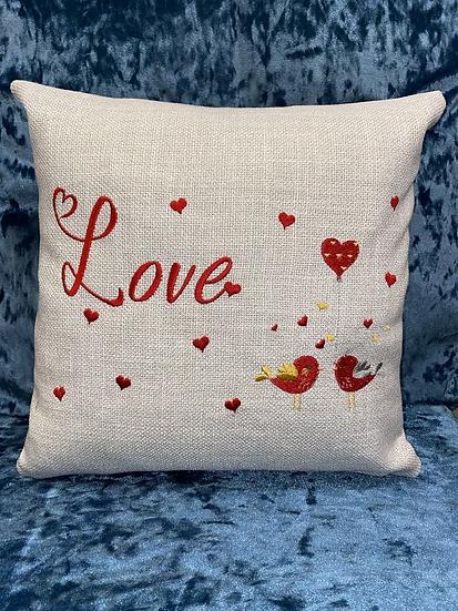 Love with love birds cushion
