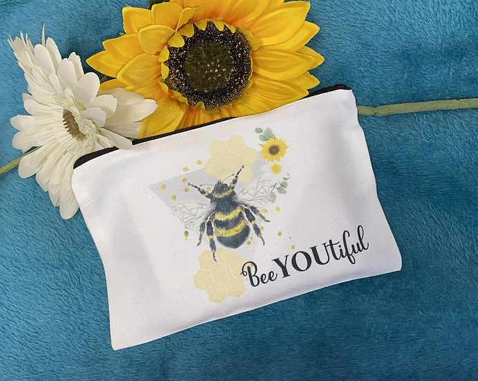 Beeyoutiful Make up bag/zipped pouch
