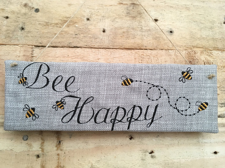 Bee Happy Wall Hanging