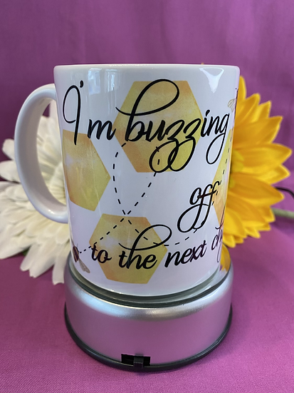 Buzzing off to the next chapter mug