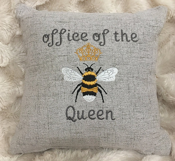 Office of the Queen Bee cushion small