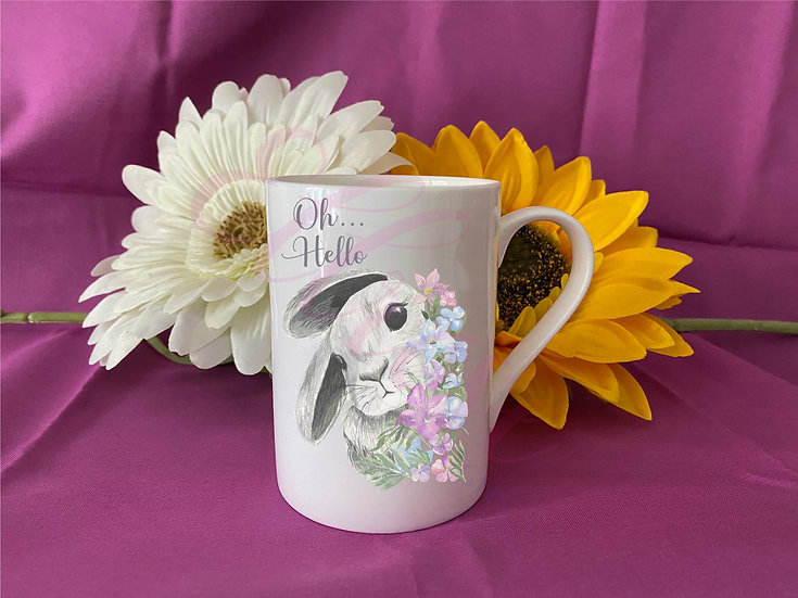 oh...hello rabbit mug