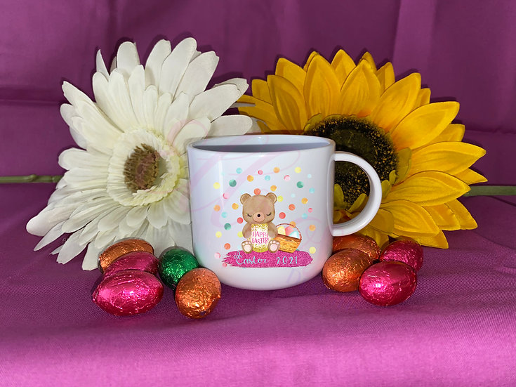 Child easter bear cup - can be personalised