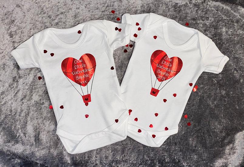 baby's first valentine vest