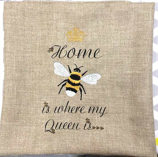 Home is where my queen is cushion cover