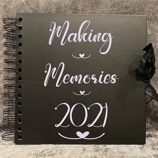 Personalised scrapbook album memory keepsake