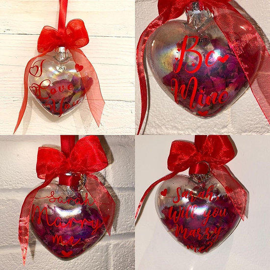 I love you heart bauble *valentines day, wedding, anniversary gift