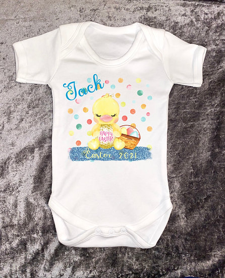 baby's first Easter vest