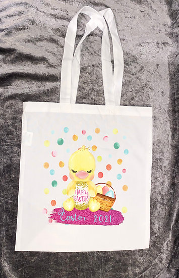 Child easter tote bag - can be personalised - various designs