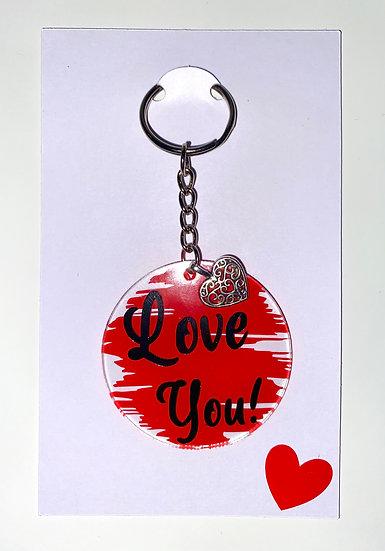 Love you round keyring